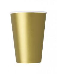 10 goudkleurige kartonnen drinkbekers