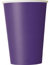 Set paarse wegwerp bekers
