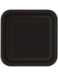 Set grote zwarte vierkant borden