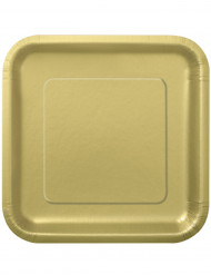 14 grote goudkleurige kartonnen borden