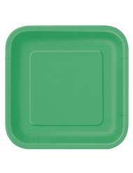 14 grote smaragdgroene kartonnen borden