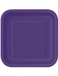 14 grote kartonnen paarse borden