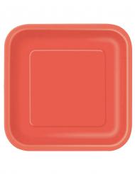 14 grote rode kartonnen borden