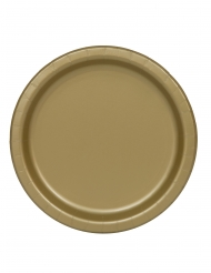 16 goudkleurige kartonnen borden