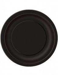 Ronde zwarte borden set