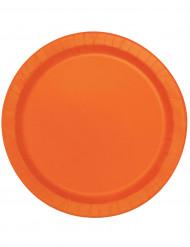 Set van oranje ronde borden