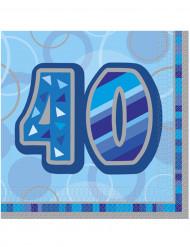 Papieren servetten voor verjaardag 40 jaar