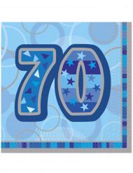 Set van 16 servetten 70 jaar