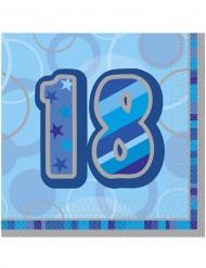 Blauwe papieren servetten 18 jaar