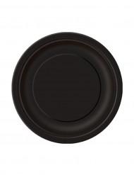 Set van kleine zwarte bordjes
