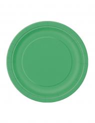 20 smaragdgroene kartonnen borden