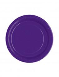 Set ronde paarse borden 18 cm