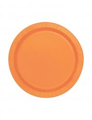 Set oranje ronden borden