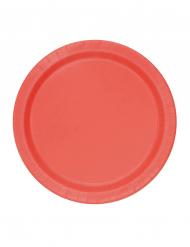 20 kleine rode kartonnen borden