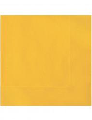 20 gele papieren servetten