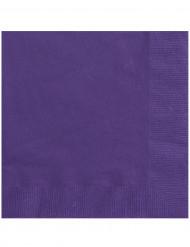 20 paarse servetten 33 x 33 cm