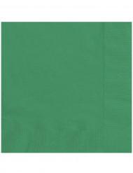 20 smaragdgroene servetten
