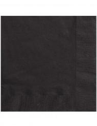 Set van 50 zwarte servetten