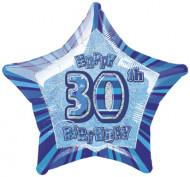 Blauwe sterrenballon 30 jaar