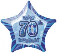 Blauwe ballon 70 jaar