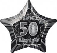 Ster ballon cijfer 50