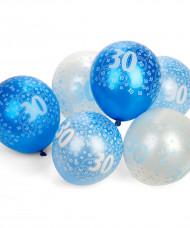 Blauwe ballonnen 30 jaar