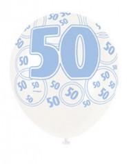 Blauwe ballon cijfer 50