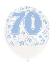 Blauwe ballonnen 70 jaar