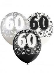 Grijze ballonnen 60 jaar