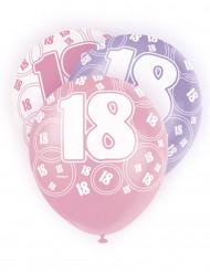 Set roze ballonnen 18 jaar