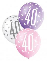 Ballonnen met cijfer 40
