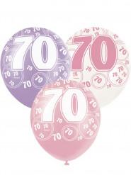 Set roze ballonnen 70 jaar