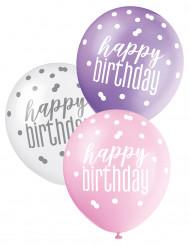 6 Happy Birthday ballonnen