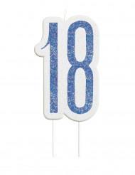 Verjaardagskaars 18 jaar blauw