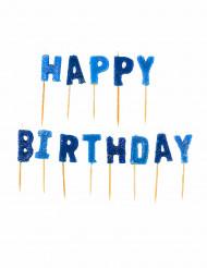 Happy Birthday blauwe kaarsjes