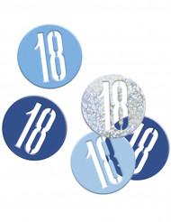 Confetti grijs/blauw 18 jaar