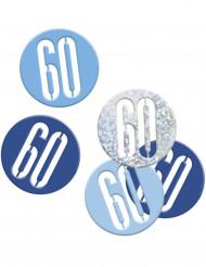 Confetti 60 jaar blauw en grijs