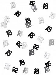 Confetti 18 jaar grijs/zwart