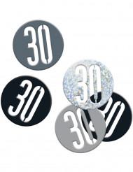 Confetti 30 jaar zwart/grijs