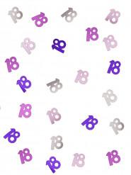 Roze / grijs confetti 18 jaar
