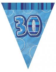 Blauwe 30 jaar slinger