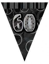 Zwart-grijze vlaggenlijn 60 jaar