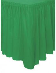 Smaragdgroene plastic tafelrok