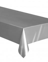 Plastic zilverkleurig tafelkleed