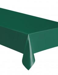 Rechthoekig tafelkleed in donkergroen plastic