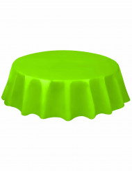 Rond fel groen tafelkleed