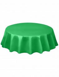 Rond tafelkleed in smaragdgroen plastic