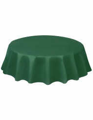 Rond tafelkleed in donkergroen plastic