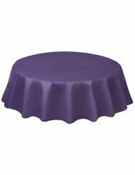 Rond tafelkleed van paars plastic