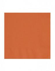 50 papieren servetten oranje